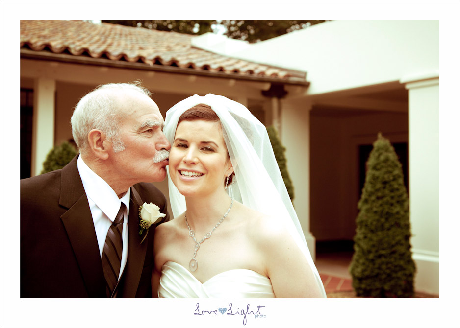 Bride and Dad portraits