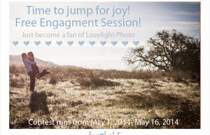 Big Announcement: Contest!!! Become a Facebook fan of Lovelight Photo and win a free engagement Session!!