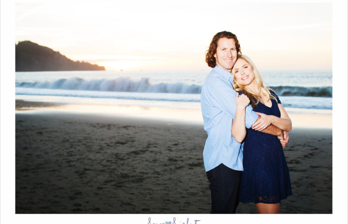 Romantic engagement shoot at Baker Beach
