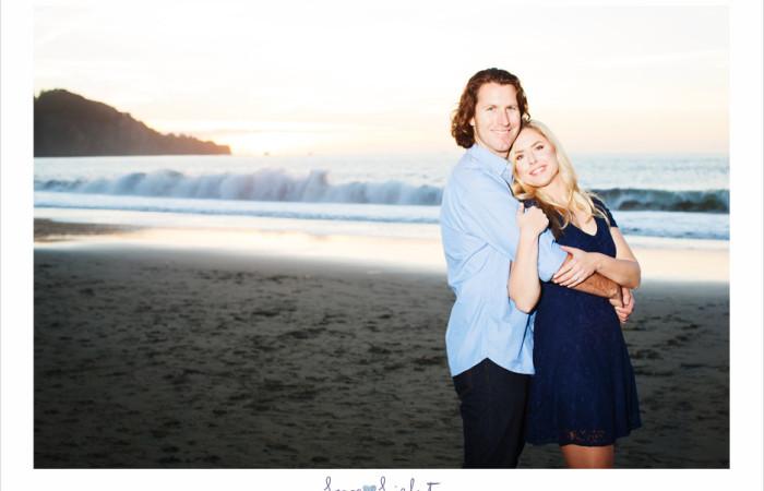 Romantic engagement shoot at Baker Beach