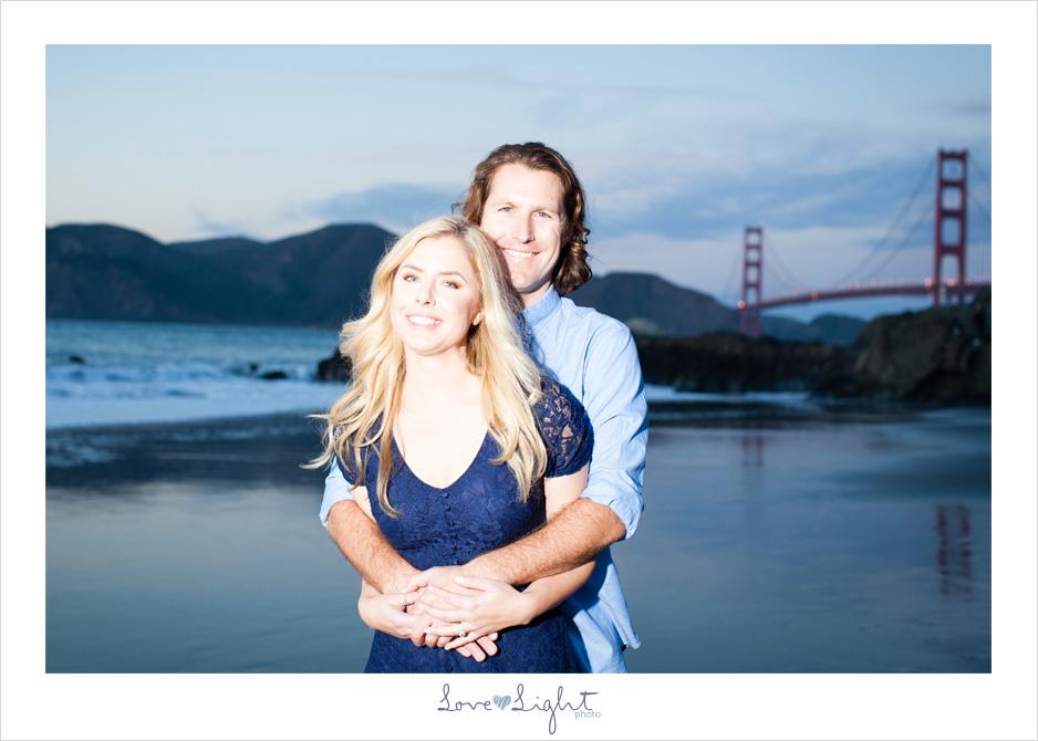 San Francisco Baker Beach engagement sunset