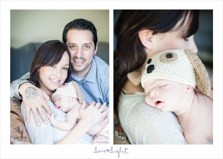 baby boy Logan Newborn session