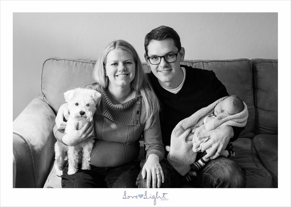 newborn dog family christmas