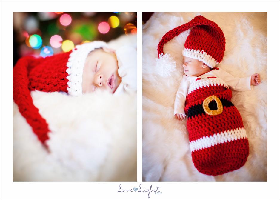 newborn santa family christmas