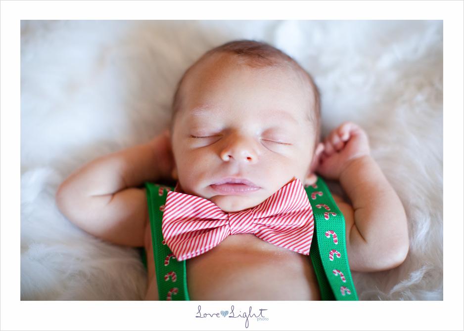 newborn bowtie family christmas