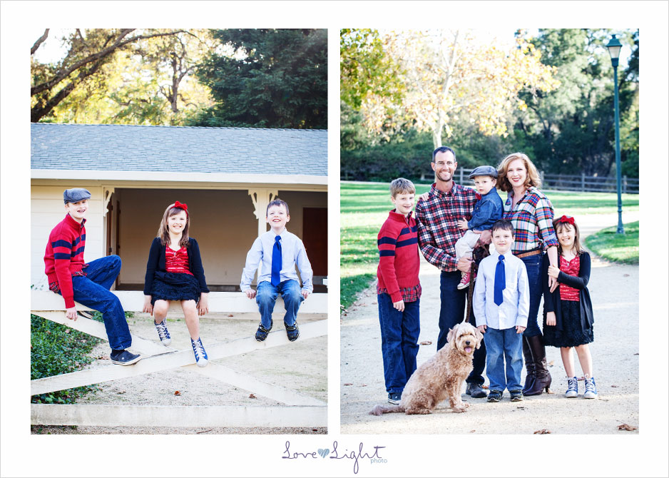family photo mini session four kids dog Hap Magee Ranch Park