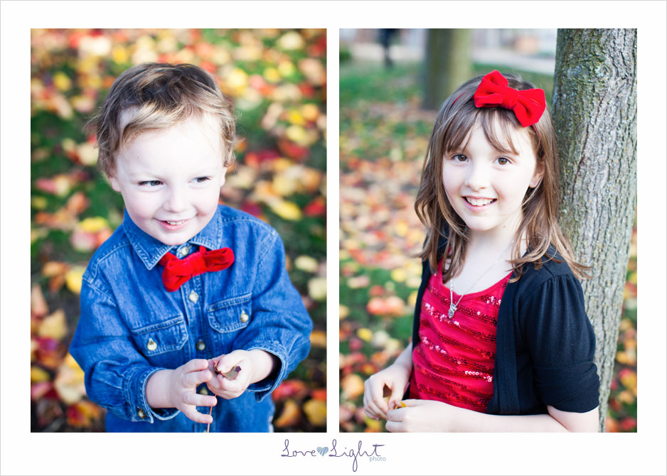 fall leaves family photo mini session four kids dog Hap Magee Ranch Park