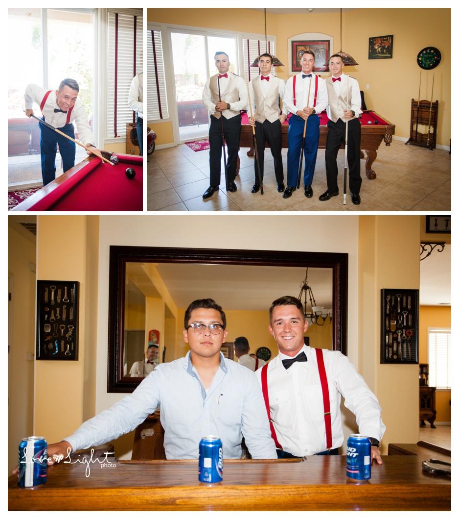groomsmen pool table