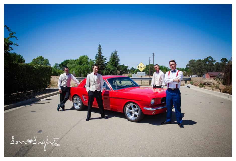mustang vintage car groom
