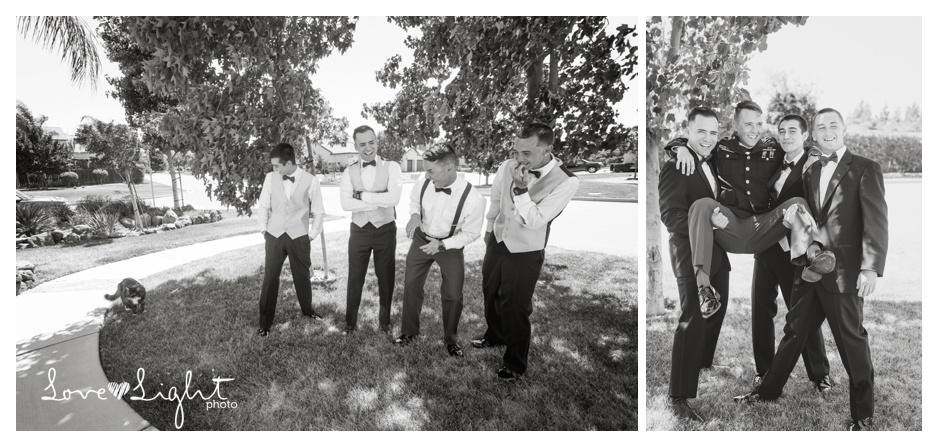groomsmen and cat