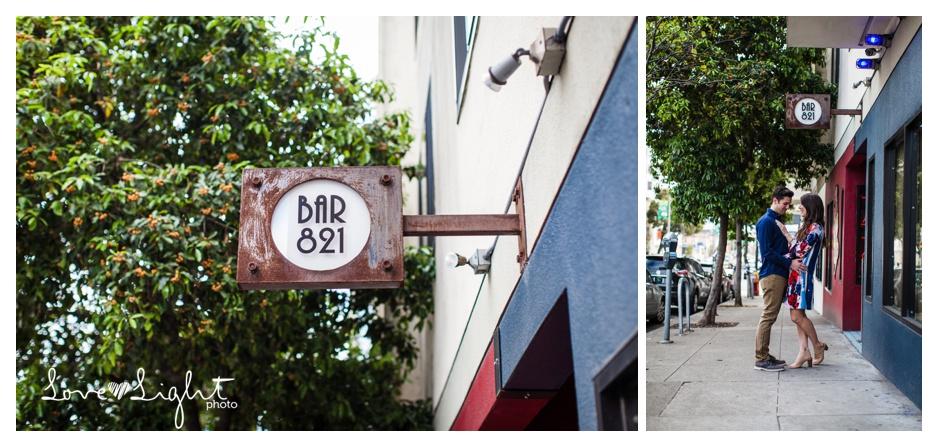 Bar 821 San Francisco Engagement
