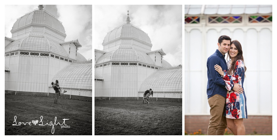 Conservatory of Flowers Engagment