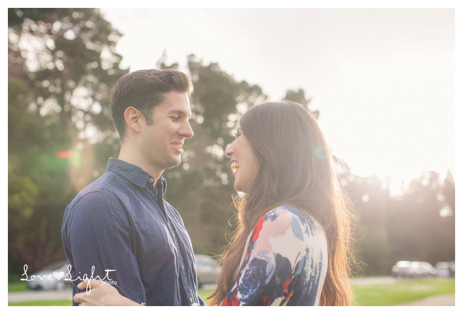 Golden Gate Park Engagement shoot