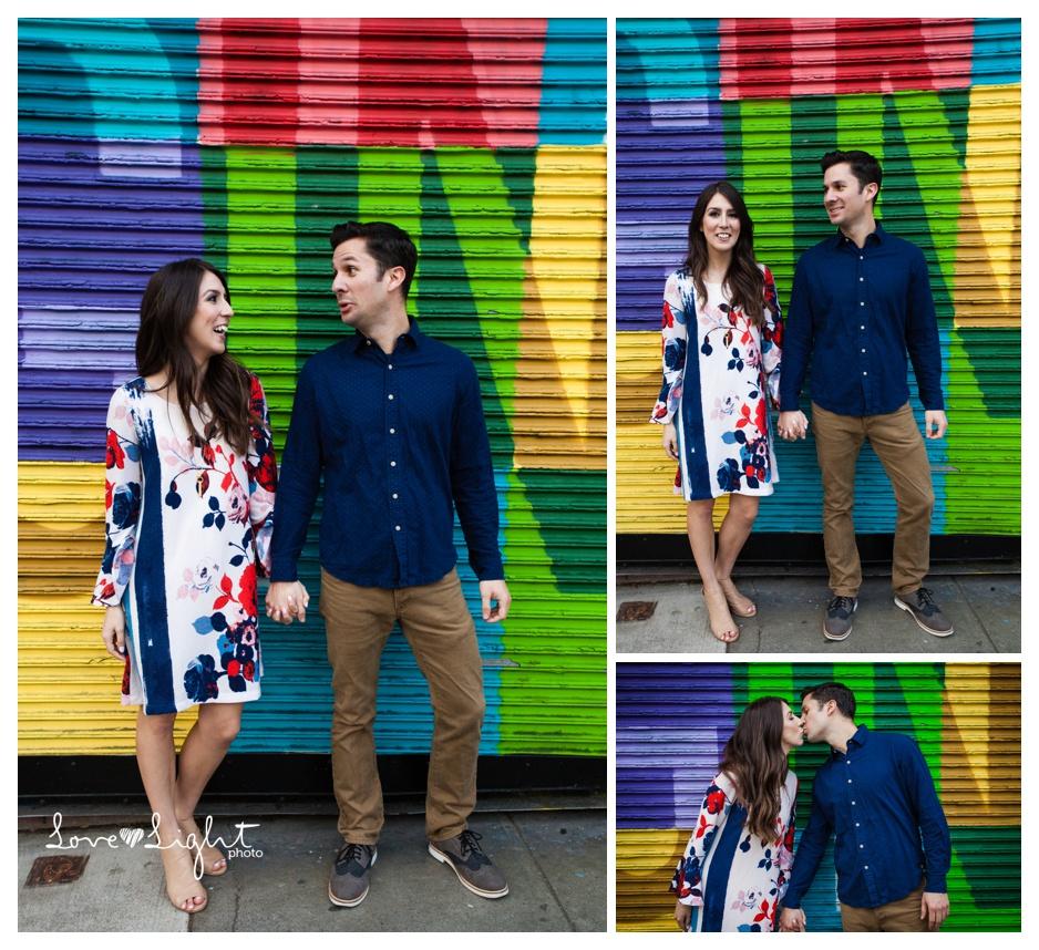 Graffiti Colorful Engagement Photos