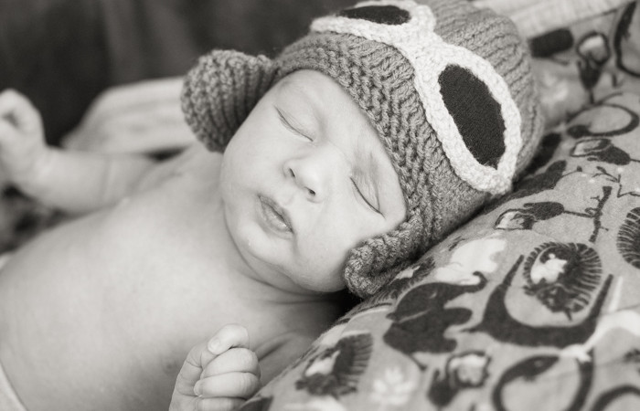 Newborn photo session: baby David